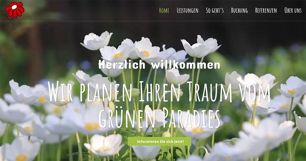 Beispiel Website gruenmaler.de