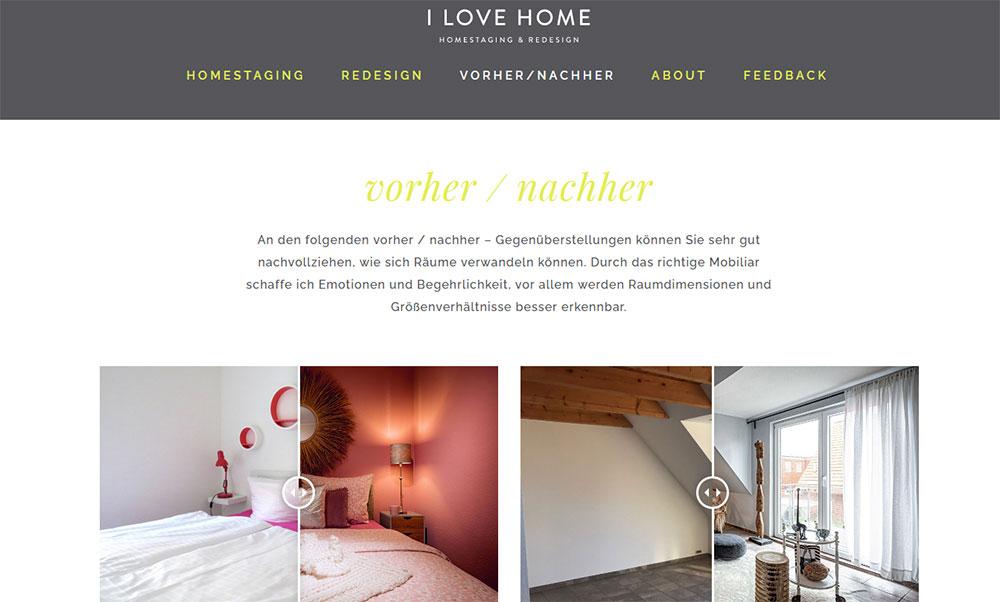 Beispiel Website ilovehome.de