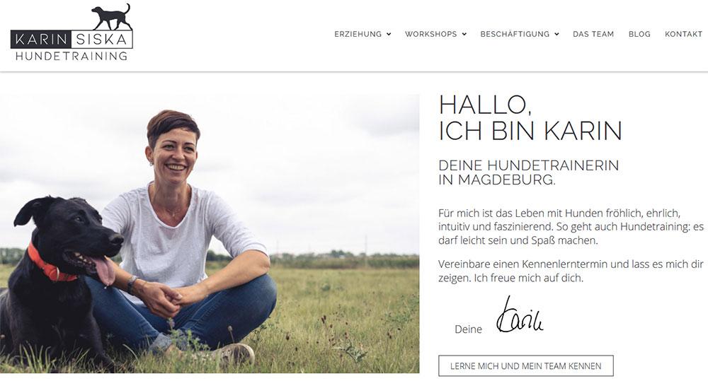 Beispiel Website KarinSiska.de