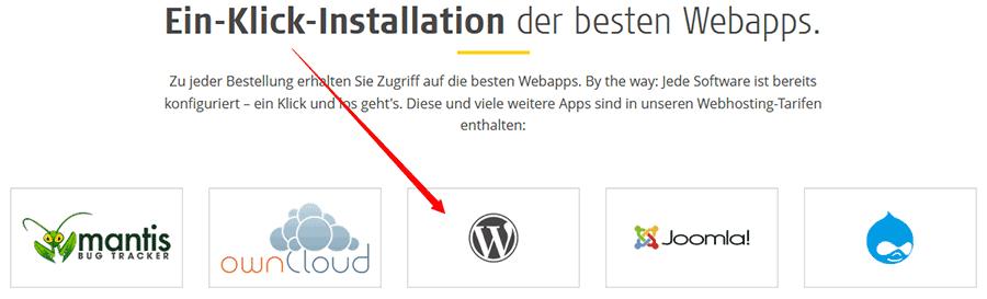 Eigene Website: 1 Klick WordPress Installation