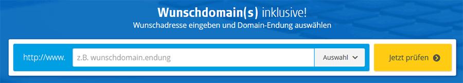 Website Domain finden